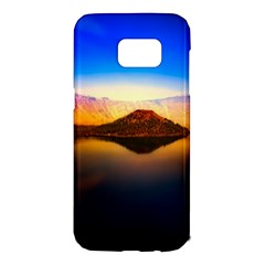 Crater Lake Oregon Mountains Samsung Galaxy S7 Edge Hardshell Case by BangZart