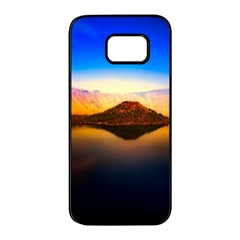 Crater Lake Oregon Mountains Samsung Galaxy S7 Edge Black Seamless Case by BangZart