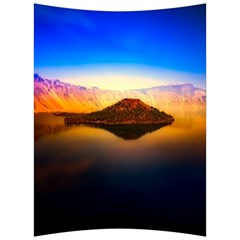 Crater Lake Oregon Mountains Back Support Cushion by BangZart
