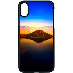 Crater Lake Oregon Mountains Apple Iphone X Seamless Case (black) by BangZart