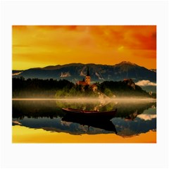 Bled Slovenia Sunrise Fog Mist Small Glasses Cloth