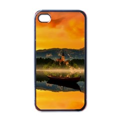 Bled Slovenia Sunrise Fog Mist Apple Iphone 4 Case (black) by BangZart