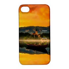 Bled Slovenia Sunrise Fog Mist Apple Iphone 4/4s Hardshell Case With Stand by BangZart