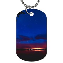 Canada Lake Night Evening Stars Dog Tag (two Sides)