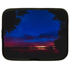 Canada Lake Night Evening Stars Netbook Case (large) by BangZart