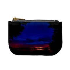Canada Lake Night Evening Stars Mini Coin Purses by BangZart