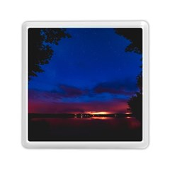 Canada Lake Night Evening Stars Memory Card Reader (square)  by BangZart