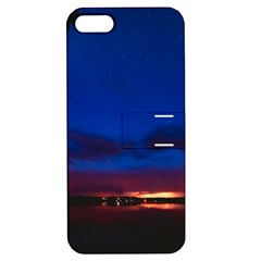 Canada Lake Night Evening Stars Apple Iphone 5 Hardshell Case With Stand
