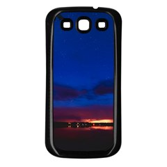 Canada Lake Night Evening Stars Samsung Galaxy S3 Back Case (black) by BangZart