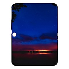 Canada Lake Night Evening Stars Samsung Galaxy Tab 3 (10 1 ) P5200 Hardshell Case  by BangZart
