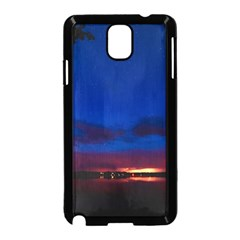 Canada Lake Night Evening Stars Samsung Galaxy Note 3 Neo Hardshell Case (black) by BangZart