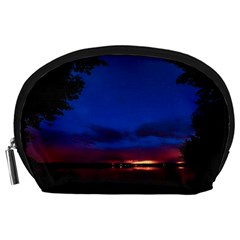 Canada Lake Night Evening Stars Accessory Pouches (large)