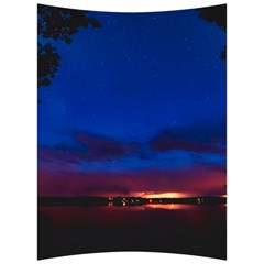 Canada Lake Night Evening Stars Back Support Cushion