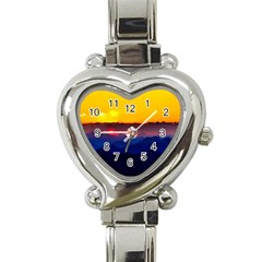 Austria Landscape Sky Clouds Heart Italian Charm Watch by BangZart