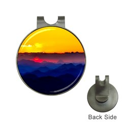Austria Landscape Sky Clouds Hat Clips With Golf Markers