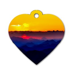Austria Landscape Sky Clouds Dog Tag Heart (two Sides) by BangZart