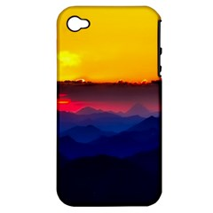 Austria Landscape Sky Clouds Apple Iphone 4/4s Hardshell Case (pc+silicone)