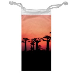 Baobabs Trees Silhouette Landscape Jewelry Bag