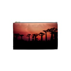 Baobabs Trees Silhouette Landscape Cosmetic Bag (small)  by BangZart