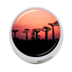 Baobabs Trees Silhouette Landscape 4 Port Usb Hub (two Sides)