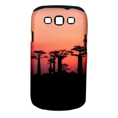 Baobabs Trees Silhouette Landscape Samsung Galaxy S Iii Classic Hardshell Case (pc+silicone)