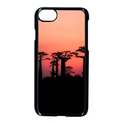 Baobabs Trees Silhouette Landscape Apple Iphone 7 Seamless Case (black)
