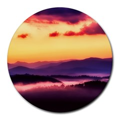 Great Smoky Mountains National Park Round Mousepads