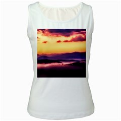 Great Smoky Mountains National Park Women s White Tank Top