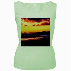 Great Smoky Mountains National Park Women s Green Tank Top
