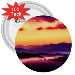 Great Smoky Mountains National Park 3  Buttons (100 pack)