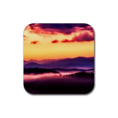 Great Smoky Mountains National Park Rubber Square Coaster (4 pack)