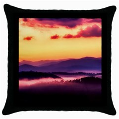 Great Smoky Mountains National Park Throw Pillow Case (Black)