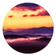 Great Smoky Mountains National Park Magnet 5  (Round)