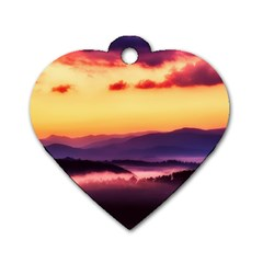 Great Smoky Mountains National Park Dog Tag Heart (One Side)