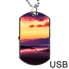Great Smoky Mountains National Park Dog Tag USB Flash (One Side)