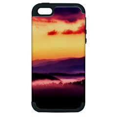 Great Smoky Mountains National Park Apple iPhone 5 Hardshell Case (PC+Silicone)