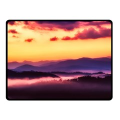 Great Smoky Mountains National Park Double Sided Fleece Blanket (Small)