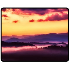Great Smoky Mountains National Park Double Sided Fleece Blanket (Medium)