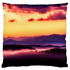 Great Smoky Mountains National Park Large Flano Cushion Case (One Side)