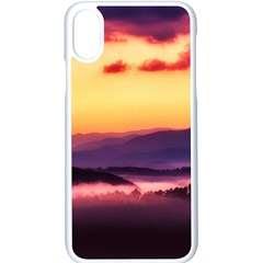 Great Smoky Mountains National Park Apple iPhone X Seamless Case (White)