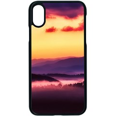 Great Smoky Mountains National Park Apple iPhone X Seamless Case (Black)