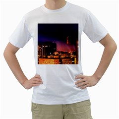 San Francisco Night Evening Lights Men s T Shirt (white) (two Sided)