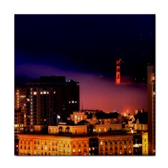 San Francisco Night Evening Lights Face Towel by BangZart