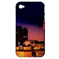 San Francisco Night Evening Lights Apple Iphone 4/4s Hardshell Case (pc+silicone)