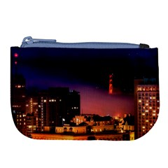 San Francisco Night Evening Lights Large Coin Purse