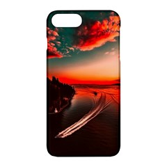 Sunset Dusk Boat Sea Ocean Water Apple Iphone 7 Plus Hardshell Case