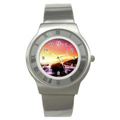 California Sea Ocean Pacific Stainless Steel Watch by BangZart