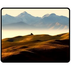 Landscape Mountains Nature Outdoors Fleece Blanket (medium)  by BangZart