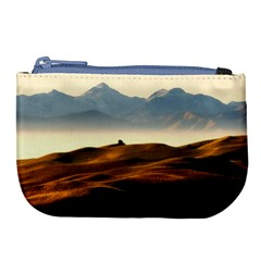 Landscape Mountains Nature Outdoors Large Coin Purse