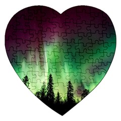 Aurora Borealis Northern Lights Jigsaw Puzzle (heart)